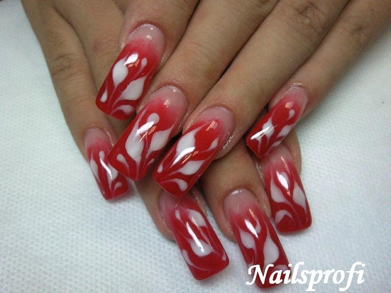 Плоскостной дизайн ногтей