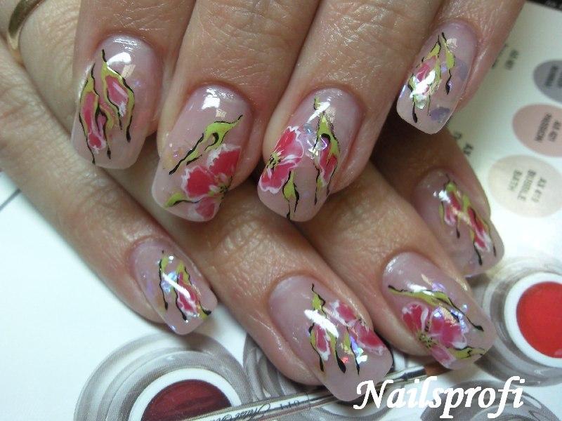 Комуфляж и роспись ногтей