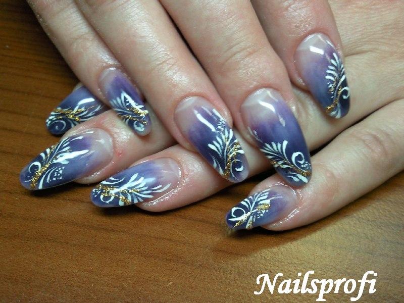 растушовка и роспись ногтей