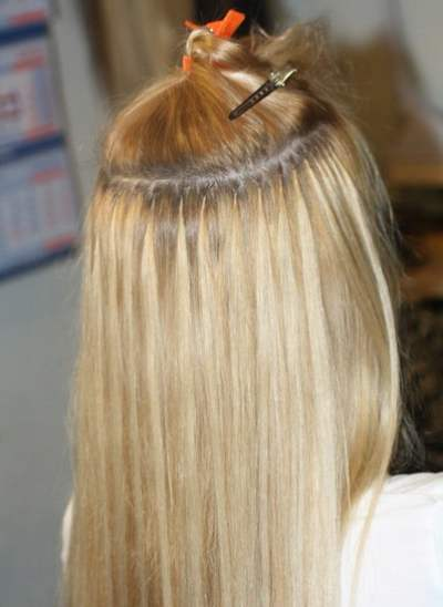Наращивание волос микрокапсулами