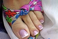 Наращивание ногтей ног 1