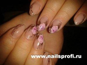 Классическое наращинвание ногтей 1