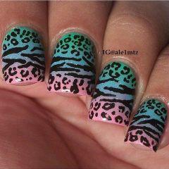 Дизайн для коротких ногтей 7