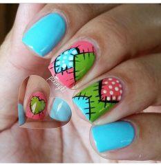 Дизайн для коротких ногтей 9