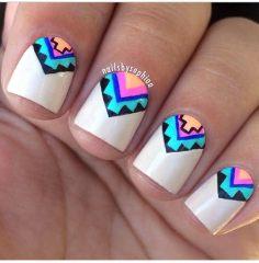 Дизайн для коротких ногтей 10