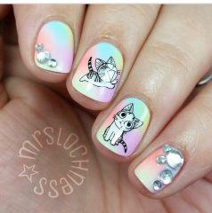 Дизайн для коротких ногтей 14