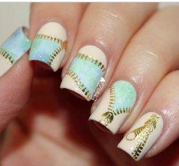 Дизайн для коротких ногтей 16