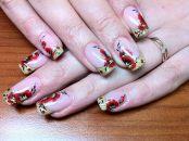 Стильный дизайн для нарощенных ногтей 15