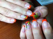 Стильный дизайн для нарощенных ногтей 17