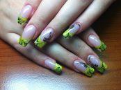 Стильный дизайн для нарощенных ногтей 6