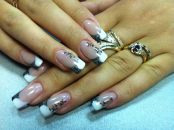 Стильный дизайн для нарощенных ногтей 8