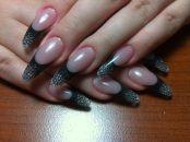 Стильный дизайн для нарощенных ногтей 10