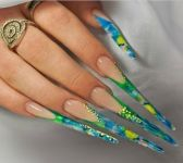 Ногти по форме стилет 3
