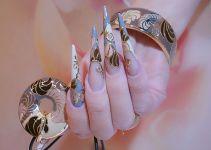 Ногти по форме стилет 8