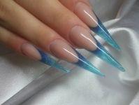 Ногти по форме стилет 9