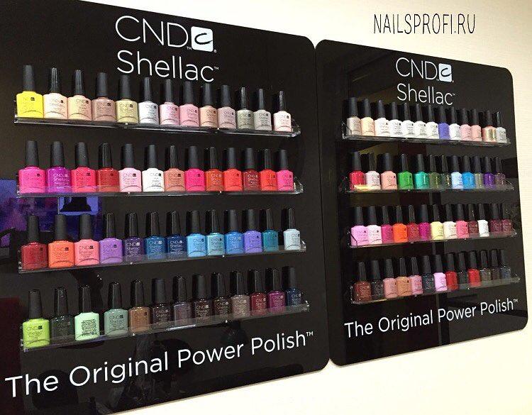 Палитра Шеллака в салоне NailsProfi состоит из более 100 оттенков