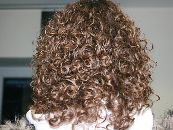 Результат молекулярного моделирования волос